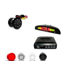 Kit Sensor De Estacionamento + Câmera De Ré Automotiva Carro