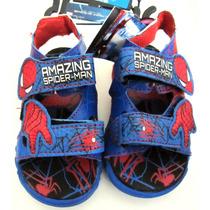 Spiderman Sandalias Playeras C/luces Originales Marvell