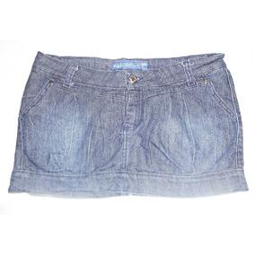Pollera Mini De Jean Azul Talle 42 Imperdible!!!