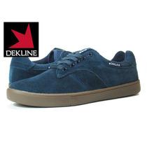 Zapatos Dekline Skate Dalton Azul Con Marron Todas Lastallas