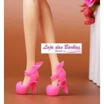 Sapatinho De Luxo Crepúsculo Rosa P/ Boneca Barbie * Sapato