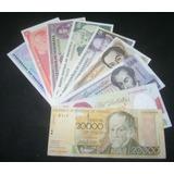 Combo De 9 Billetes Antiguos Unc Y Circulado Bs 20.743