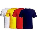 Kit 30 Camisetas Lisas 100% Algodão Fio 30.1 Penteado