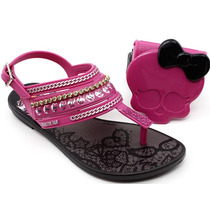 Sandália Infantil Monster High 21208 Preto | Pixolé Calçados