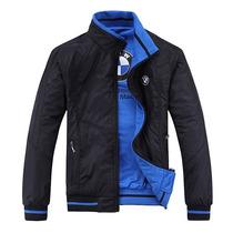 Casaca Bmw Color Negro Reversible Azul, Promoción (m, L, Xl)