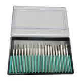 Kit Com 20 Pontas Diamantadas P/ Micro Retifica E Gravador D