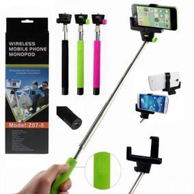 Bastão Selfie Monopod Com Botão Remoto Bluetooth Adap Cel
