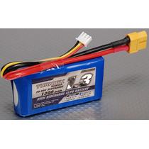 Bateria Pila Lipo 1300mah 7.4v 2s 20c Turnigy