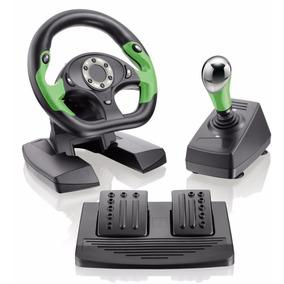 Volante Xbox 360 Pc Dual Shock C/ Pedal E Câmbio