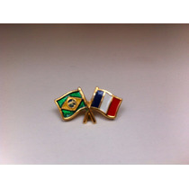 Pins Da Bandeira Do Brasil X França