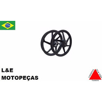 Jogo Roda Liga Leve Moto Fan 125 09... (par) Freio Tambor