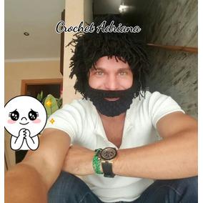 Gorro Con Cabello Y Barba Crochet Tejidos