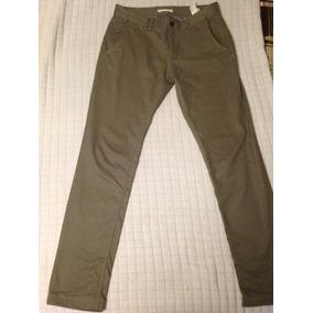 Pantalon De Vestir Zara Man Color Gris Talla 31 Vestir