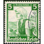 Alemania Sello Usado Mujer = Traje Típico = Sobretasa 1935
