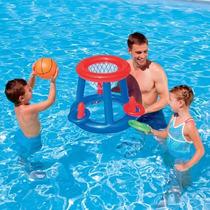 Aro De Basquet Inflable Bestway + Pelota Para Pileta Basket