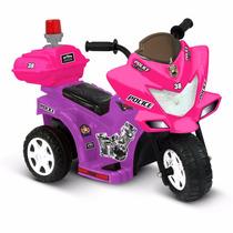 Moto Eléctrica Patrulla De Policia Para Niña Kid Motorz Nb