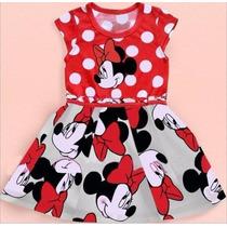 Vestido Minnie Mouse Princesa Para Niñas Tallas 1 - 5 Años