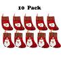 Decoración Ivenf Mini De 10 Paquetes De Papá Noel Y Muñeco
