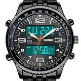 Reloj Multifuncional Negro Análogo Led Digital Sport Amry