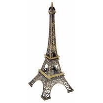 Torre Eiffel 26 Cm Adorno De Metal Souvenir Francia Paris