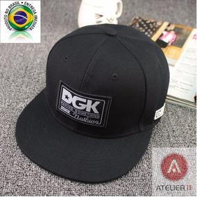 Boné Dgk Preto Aba Reta Snapback Hip Hop Skate Original Usa