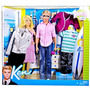 Juguete Barbie Kidpicks Lote - Ken Doll Y Ropa / Fashions