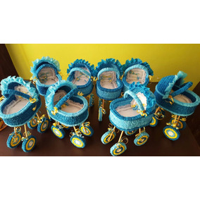 Centros Mesa Baby Shower Carreolas Crepe