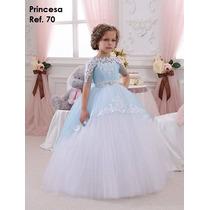 Vestido De Niña Princesa Talla 2 A 10 By Pacalyta
