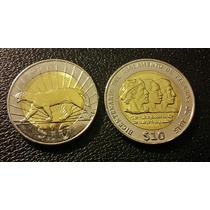 Uruguay. 2 Monedas Bimetalicas, Bicentenario Y Puma 2015 S/c