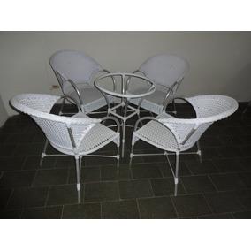 Conjunto Siena 4 Cadeiras E Uma Mesa C| Vidro