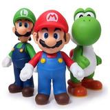 Kit Super Mario Luigi E Yoshi 3 Peças Articulados Nintendo