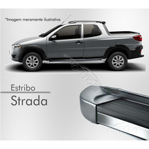 Estribo Plataforma - Fiat Strada (todos) - Cinza Scandium