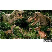 Dinossauro Jurassic Park 3,00x1,60m Lona Banner Aniversário