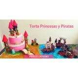 Tortas Decoradas Cumpleaños Por Kilo - Princesas Y Piratas