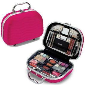Maleta Maquiagem Fenzza Rosa Pink Completa + Frete Gratis
