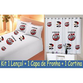 Cortina + Lençol + Fronha Sport Club Corinthians Paulista