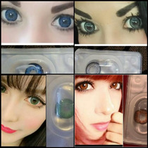 Pupilentes Ojo De Muñeca Circle Lens Cosplay Azul Gris Verde