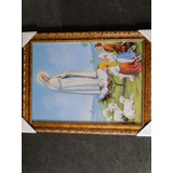 Lindo Quadro Fatima Nossa Senhora Quadro Com 44x34cm