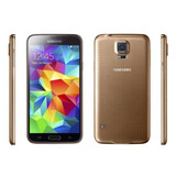 Galaxy S5 16gb Quad-core 2.5ghz 16mp Dourado Aceito Trocas