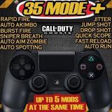 Controle Dualshock 4 Preto Rapid Fire Jump Shot Drop Akimbo