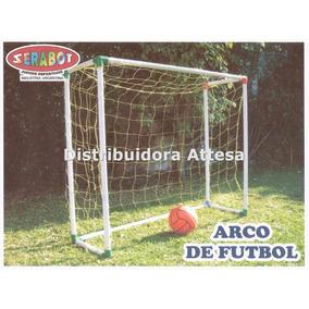 2 Arcos Futbol Infantil Caja Serabot 1 Pelota Futbol Pvc