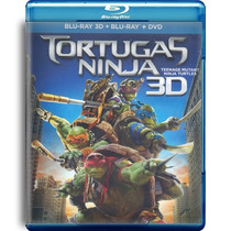 Tortugas Ninja , La Pelicula En Blu - Ray 3d + Bd + Dvd