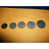 Ecuador, Antiguo Juego De Monedas 5,10,20,50 Ctvs.y Un Sucre