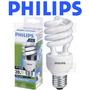 12 Lâmpadas Philips Eletrônica Espiral 20w Branca 127v