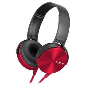 Auriculares Diadema Mdr-xb450ap Rojo Extra Bass Sony Store