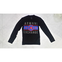 Playera Armani Exchange Long Sleeve Ax Lacoste Abercrombie