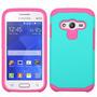 Estuche Samsung Ace 4 Antigolpe Color Verde Y Fucsia
