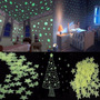 100x Estrelas Luminosas De Teto Fluorescente - Plástico