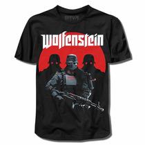 Camiseta Wolfenstein The New Order Preta Nerd Geek Algodão
