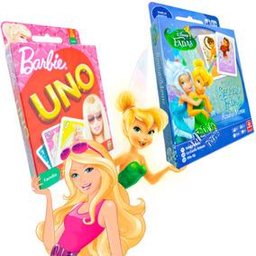 Jogos De Cartas Uno Barbie E Rouba Monte Tinker Bell Disney